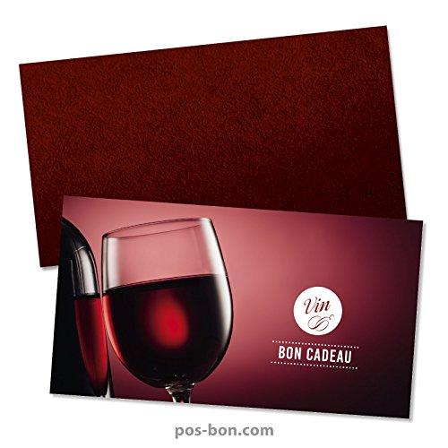 50 Bons cadeaux + 50 enveloppes pour marchands de vin, vinothèques, tavernes W1223F