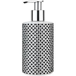 VIVIAN GRAY 3080 'Diamonds' Seifenspender mit Creme Seife, schwarz/weiß (250 ml)