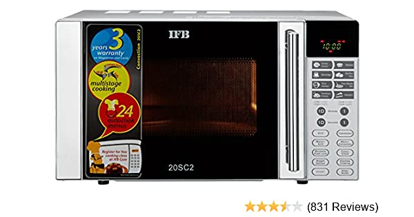 ifb 20 l convection microwave oven 20sc2 metallic silver amazon