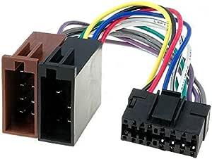 Sound Way Iso Kabel Adapter Stecker Kompatibel Mit Autoradio Sony 16 Pin Auto