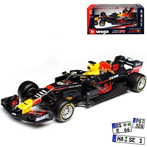 Red Bull RB14 Racing Max Verstappen Nr 33 Formel 1 2018 1/43 Bburago Modell Auto - 33 Formel