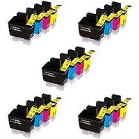 Prestige Cartridge LC900/LC950 20 Cartucce d'Inchiostro Compatibile per Stampanti Brother