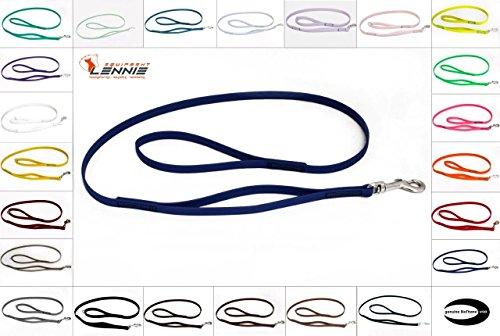 Führleine mit integriertem Kurzführer aus 16 mm BioThane® / 25 Farben [Blau] / genäht