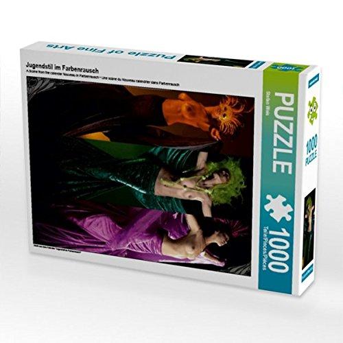 Jugendstil im Farbenrausch 1000 Teile Puzzle hoch - Nackt Bronze