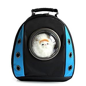 DESESHENME Pokemon Cat Dog Space Capsule Pet Cat Dog Mochila Ventana para Puppy Small Cat Dog Carrier Transporte Bolsa de Viaje al Aire Libre, Rojo-29 × 23 × 42cm