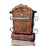 HZB Europäische Art-Landhaus-Briefkasten-im Freien antike Wand-hängenden kreative Briefkasten