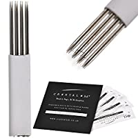 Microblading Blades Shading 12 Pin R3 x20 Eyebrows DisposableTattoo Needles Tools by CRYSTALUM®