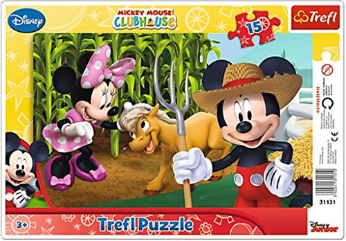 Trefl - Mickey Mouse Puzzle avec Cadre 15 Pièces, 31131U