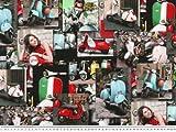 Flotter Dekostoff, Motorroller Italien, multicolor, 140 cm