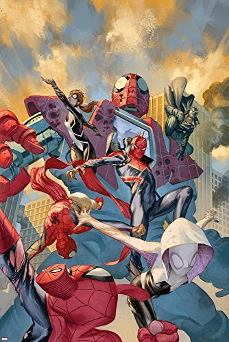 web-warriors-no-8-cover-art-with-spider-man-noir-spider-punk-spider-gwen-spider-ham-and-more-poster-