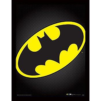 Dc Comics Batman Symbol Framed Print 30 X 40 Cm Amazon