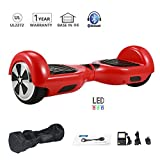HoWay Self Balance Scooter 6,5 Zoll 700W mit Bluetooth Lautsprecher UL2272 LED Lights Elektro Scooter (Rot)