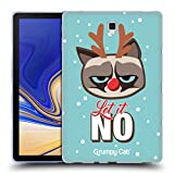 Head Case Designs Ufficiale Grumpy Cat Let It No Grumpmoji Natale Cover Morbida in Gel per Samsung Galaxy Tab S4 10.5 (2018)