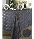 So Home - Nappe de fêtes Anti-Tache Anthracite 150x300cm 100% Polyester Collection Bouloc