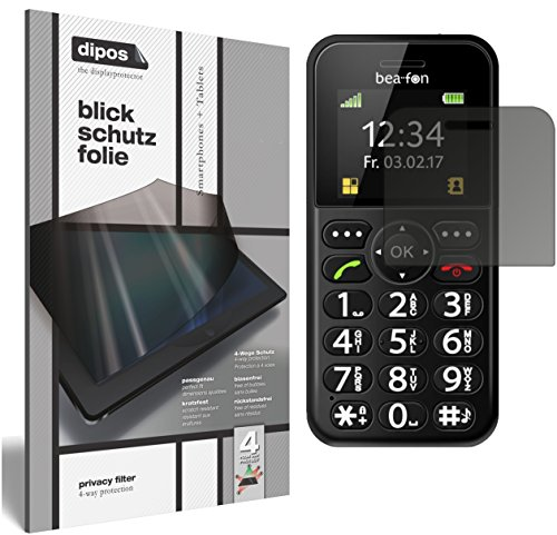 dipos I Blickschutzfolie matt passend für bea-fon SL150 Sichtschutz-Folie Display-Schutzfolie Privacy-Filter