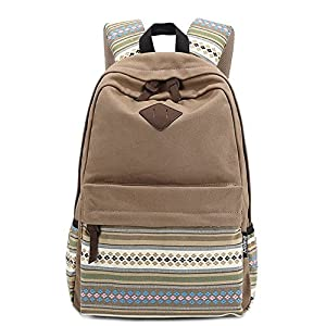 Vintage azteca tribal de muy buen gusto Lienzo Escuela Backpack- Caqui