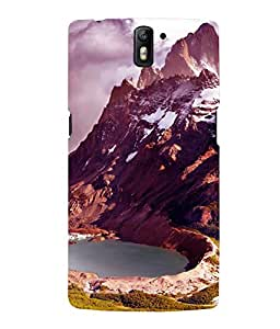 printtech Ice Mountain View Back Case Cover for One Plus One::One Plus1
