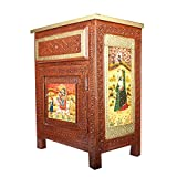 #7: APKAMART Hand Crafted Wooden Side Table - 21 Inch Height - Handicraft End Table Showpiece & Utility Article for Home Decor, Room Decor and Gifts