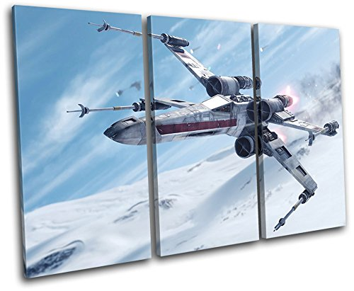 Bold Bloc Design - Star Wars Battlefront Gaming 90x60cm TREBLE Caja de lamina de arte lienzo enmarcado foto del colgante de pared - hecho a mano en el Reino Unido - enmarcado y listo para colgar - Canvas Art Print
