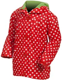 Target Dry Ladybug Girls Waterproof Breathable Hooded Polka Jacket Red