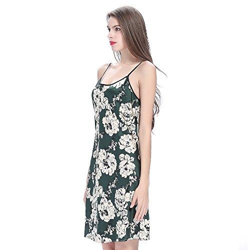 LilySilk Attillato Camicia Da Notte Seta Da Donna Di Seta Con Stampa Floreale Blu reale