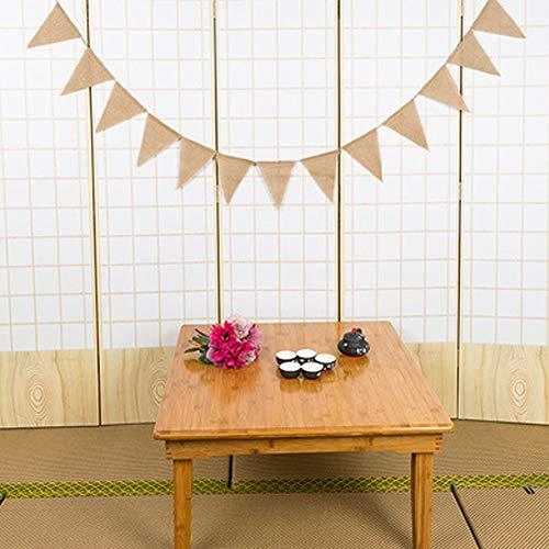 CRAZYON 13pcs Sackleinen Banner Dreieck Flagge DIY Dekoration für Feiertage, Hochzeit, Camping, Party und jeder Gelegenheit