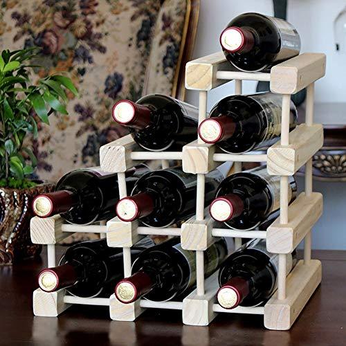 Massivholz Weinregal Weinkühler Home Storage Display Kiefer Multi-Flasche abnehmbare Weinset Creative Living Room Cabinet Funktionen Gegrillter Red Bar Bracket Stand Desktop Independent Schließfach