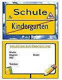Einladungskarten zur Einschulung Schulanfang Schule Einladung Karten i-Dötzchen 20 Stück