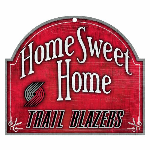 Wincraft NBA Portland Trailblazers 10-by-11 Schild aus Holz Home Sweet Home (Fan Portland Trailblazers)