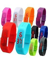 Styllent Digital Multicolour Birthday/Return Gift Set Of 9 LED Bands For Kids - Digital Led Watch For Children