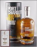 Port Charlotte Scottish Barley Islay Single Malt Whisky mit Original Uisge Source Water of Scotland (95 ml)
