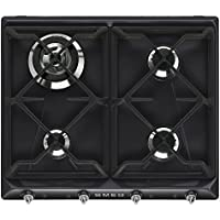 Smeg SR964NGH hobs - Placa (Integrado, Gas, Negro, Giratorio, Frente, 220 - 240V)