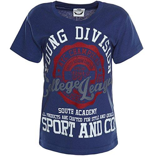 BEZLIT Jungen T-Shirt Bluse Kurzarm Shirts 21125 Navy Größe 116 (6 Jungen Größe Kurzarm-shirts)