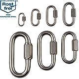 Edelstahl Schraubverbinder V4A robuste Ausfuehrung von 3 - 12 mm Materialstaerke verschieden Stueckzahlen lieferbar Ketten-Verbinder Schraub-Karabiner Kettenschnellverschluss Schraubnotglied Schraubglied