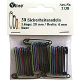 30 Stück farbige Sicherheitsnadeln 28 mm / 10 verschiedene Farben, Sicherheits- Nadel Nadeln, sl, 2138