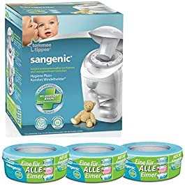 Sangenic Windeltwister MK4 Hygiene Plus+ Windeleimer inkl. 3 Nachfüllkassetten