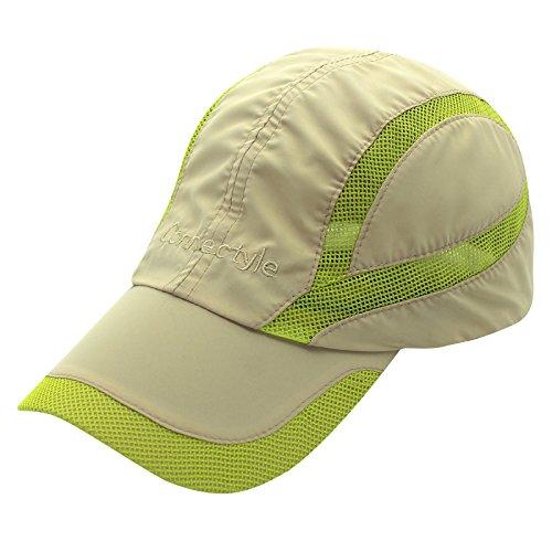 Decentron Unisex Sonnenschutzkappe schnelltrocknend Kappe Outdoor Sonnenhut Sport Cap Atmungsaktiv Hut - Khaki