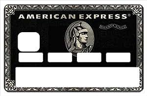Sticker, autocollant decoratif, pour carte bancaire, American Express Black