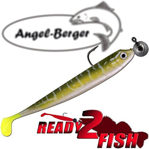 Angel-Berger Zander Shad Loaded Pike Ready2Fish Gummifisch (Pike, 13cm)