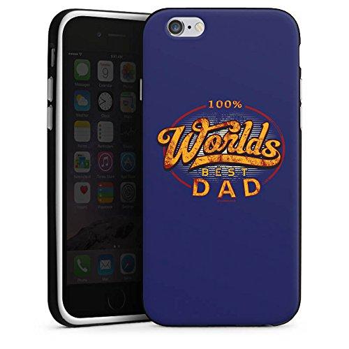 Apple iPhone X Silikon Hülle Case Schutzhülle Worlds Best Dad Bester Vater Silikon Case schwarz / weiß