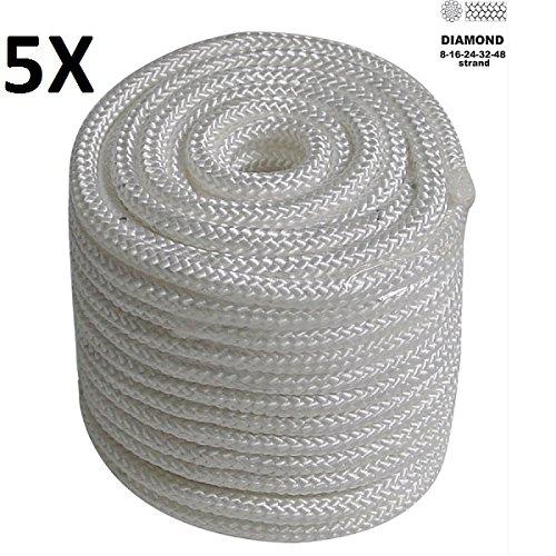 Preisvergleich Produktbild 100m PP Seil,  Tau Polypropylen 3mm Leine Schnur,  5 X 20m