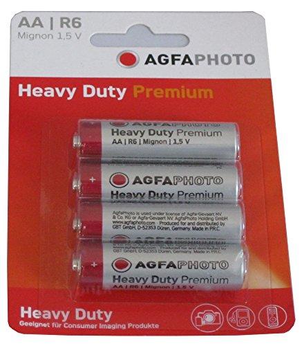 Agfaphoto Premium Pack de 4 Piles Zinc universel LR6/AA 460 mAh
