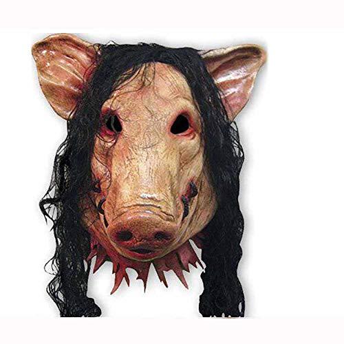 Jigsaw Kostüm Für Erwachsene - KTSKT Set Schwein + Jigsaw Saw