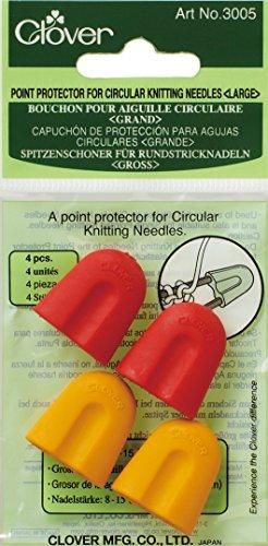Clover 3005 Spitzenschoner für Rundstricknadeln groß 5-10 mm