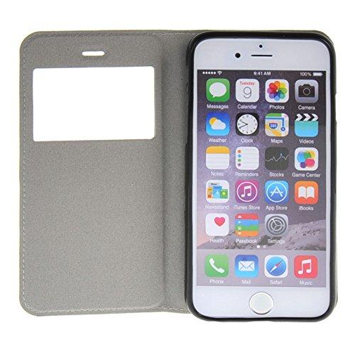 """MOONCASE Coque pour iPhone 6 (4.7"""") Slim Coque en Cuir Housse de Protection Étui à rabat Case /a06 a12"""