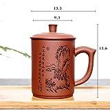 qwert Teetasse,Yixing lila schlamm lila ton cup Deckelfässer Große kapazität Vintage Hand Haushalt Büro-keramik tassen-B