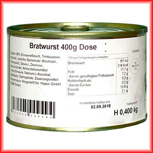 Hausmacher Dosenwurst 4 Dosen je 400g Bratwurst Premium Qualität