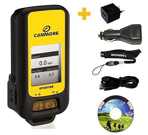 G-PORTER GP-102+ GPS- Multifunktionsgerät (gelb) - Set mit 110-240V Netzteil und 12V KFZ-Adapter -