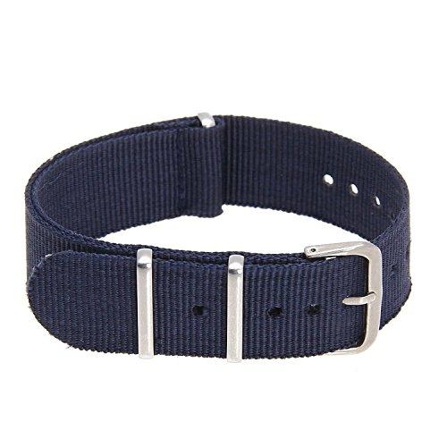 SODIAL(R) Cinturino Regolabile in Tela Blu Scuro per Orologio da Ricambio