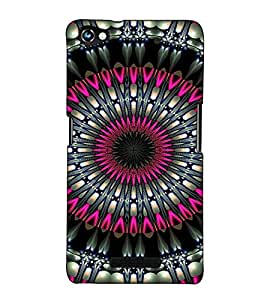 Fuson Designer Back Case Cover for Micromax CanvasHue2A316 (Pink and black designer work)